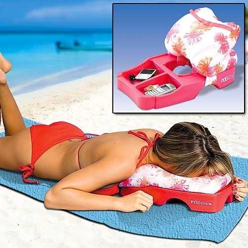 poduszka na plażę - schowek na komórkę