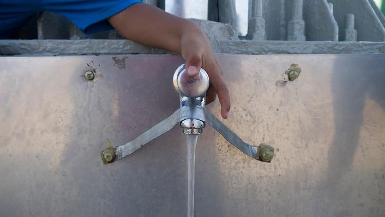 słup wody