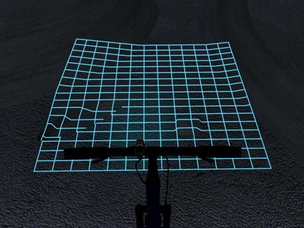 siatka laserowa w trasie