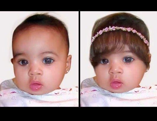 Peruka dla dziecka (i nie trzeba czekać na dłuższe włosy by zrobić ładne zdjęcie maluchowi)