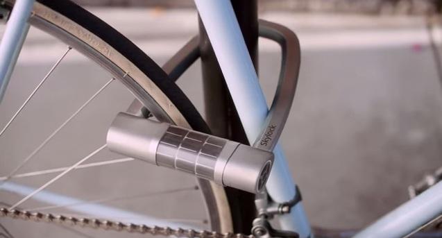 kłódka na rower z aplikacją