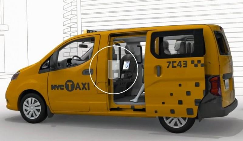 maszyna wendingowa w taksówce