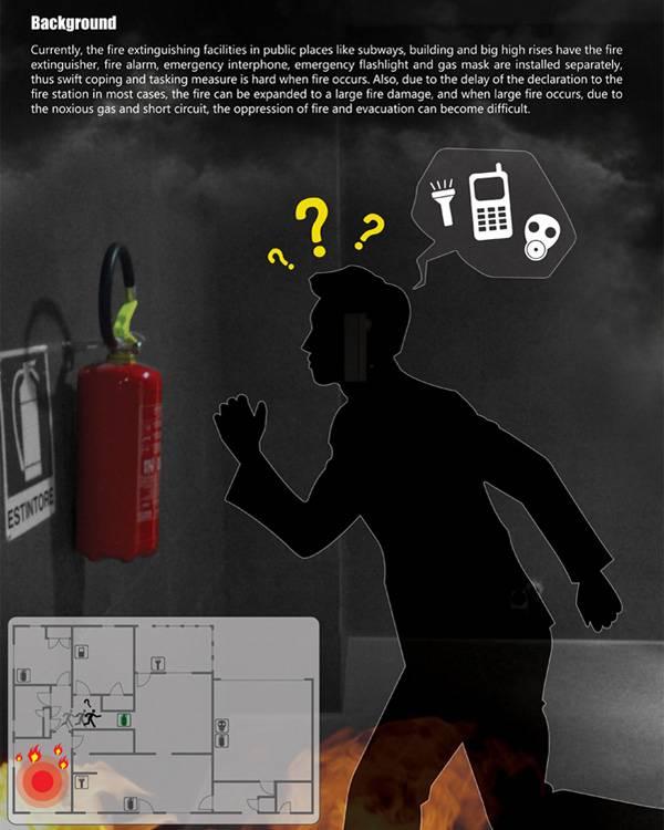 gdy zgasnie swiatlo w plonacym budynku pomoze gasnica z latarka i maska wezwij tez pomoc przez 112