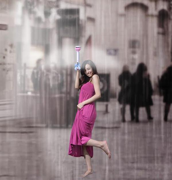 powietrzny parasol