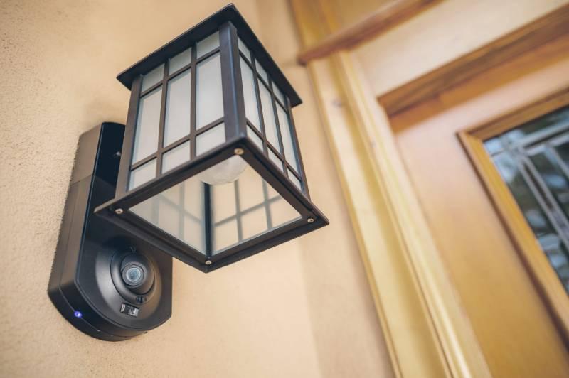 lampa z kamera wifi