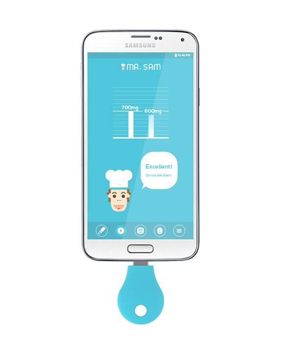 smartfon z aplikacja do odczytu