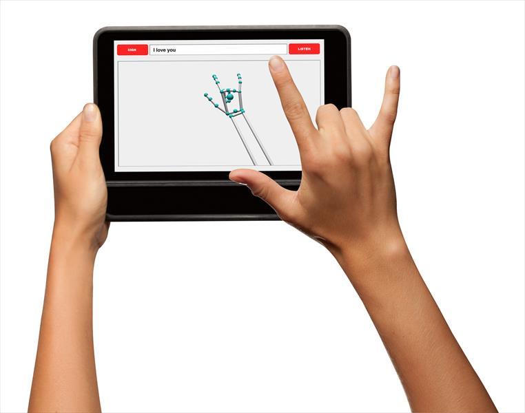 tłumacz jezyka migowego na tablecie
