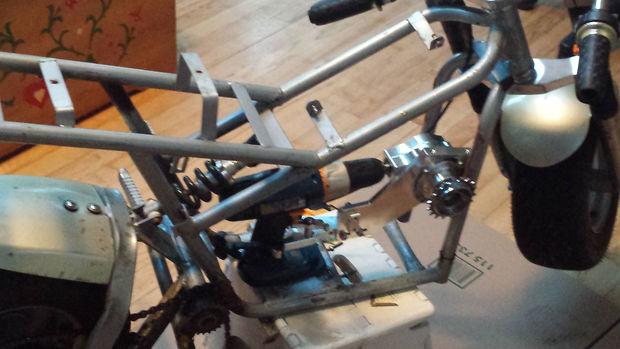 mocowanie wiertarkowego silnika