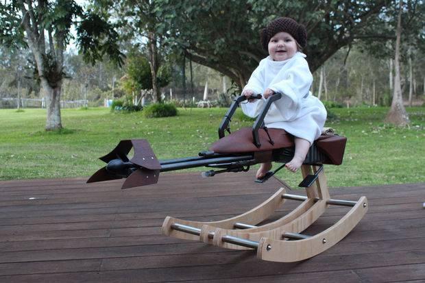 dla małych dzieci bujany fotel z gwieznych wojen