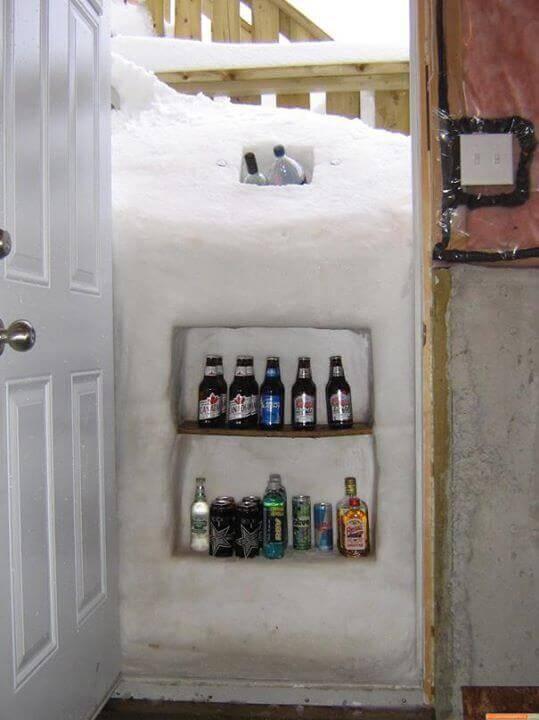 lodówka ze śniegu