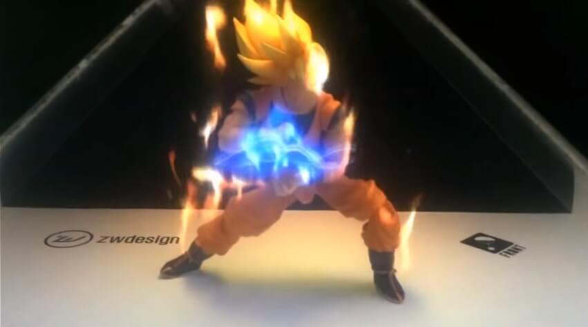 hologram 3D plonacy Goku